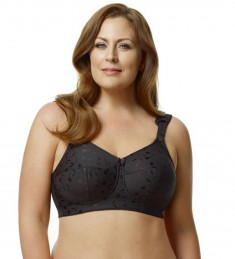 Elila Jacquard Softcup Bra With Cushioned Straps 1305