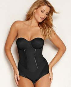 Flexees Easy Up Strapless Firm Control Body Briefer 1256