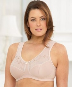 Glamorise Soft Shoulders Support Wire-Free Minimizer Bra 1135