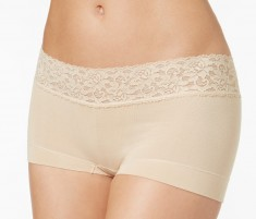 Maidenform Cotton Lace Boyshort Style 40859  (3-Pack)