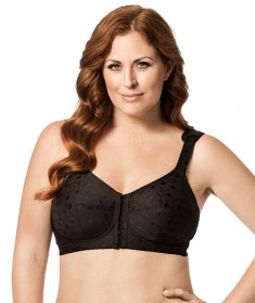 Elila Jacquard Front Close Soft Cup Bra Style 1515